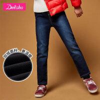 【2折价:105.8】笛莎女童牛仔长裤冬装新款儿童长裤中大童牛仔裤韩版时尚