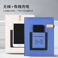 商务笔记本子礼盒套装定制可印logo移动电源本可无线充配16G优盘
