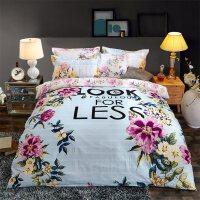 北欧磨毛四件套全棉纯棉床上用品被套床单1.8m米双人2.0m简约欧式 【床单款】1.5m床 四件套 被套:200x23