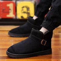 冬季高帮短靴男士加绒保暖棉靴雪地靴男靴情侣棉鞋马丁靴面包男鞋srr