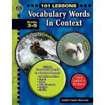 【预订】Vocabulary Words in Context, Grades 3-5 9781420681420