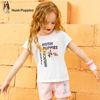 【裸价直降:59元】暇步士童装女童圆领衫夏装新款儿童短袖无袖洋气薄中大童T恤