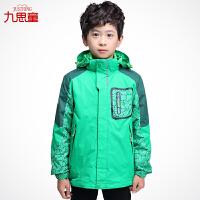 童装男童三合一冲锋衣外套抓绒男生冬装儿童户外登山服