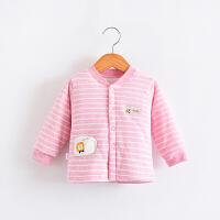 婴儿保暖上衣男宝宝夹棉单件衣服儿童女冬季加厚长袖开衫棉袄