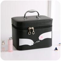 卡通大容量化妆包可爱小号便携韩版手提化妆品箱大号收纳盒小方包