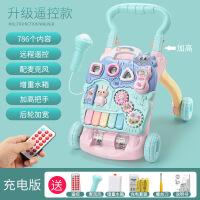 ?婴儿童学步车手推多功能防侧翻男宝宝学走路助步推车6-18个月女孩