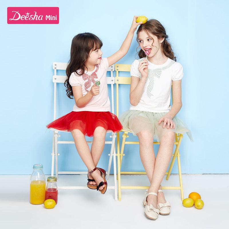 【限时抢购价:69】笛莎童装女童套装2020夏季新款儿童时尚两件套小女孩休闲裙套装女