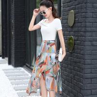 连衣裙女春夏2018新款女人味气质潮流女装夏天时尚显瘦套装裙子