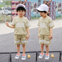 男童夏装新款套装夏季童装韩版宝宝小童潮衣儿童短袖