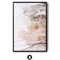 抽象画现代简约客厅装饰画沙发背景墙三联挂画北欧油画电表箱壁画