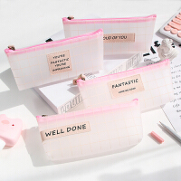 少女心笔袋可爱学生简约韩版创意文具学习用品收纳铅笔笔盒文具盒