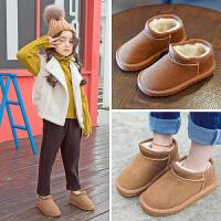 儿童雪地靴2018新款女童韩版加绒靴子男童防滑加厚宝宝冬靴
