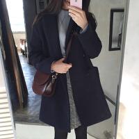 韩版反季新款秋冬毛呢外套女修身短款加厚上衣大码呢子大衣学生潮