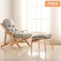 躺椅宜家椅子摇摇椅折叠家用阳台躺椅实木逍遥椅