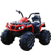W 儿童电动车四轮大电瓶越野可坐人的小孩玩具汽车摩托车可坐大人B31 高配红色 脚踏板启动
