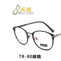 新款韩版复古tr90眼镜框 椭圆时尚眼镜架 5807学生配近视框架眼镜