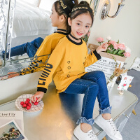 童装卫衣女童上衣卡通外衣女童卫衣打底衫韩版中大童