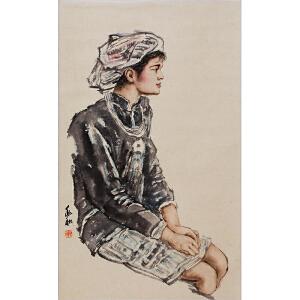 现代卓越的人物画家和美术教育家   蒋兆和《人物》