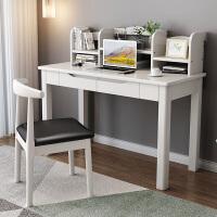 实木书桌中学生学习桌台式电脑桌现代简约办公桌子课桌家用写字台