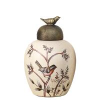 家居饰品美式乡村陶瓷储物罐软装饰品摆件客厅玄关酒柜工艺品摆设