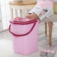 泡脚桶带盖塑料加大加高洗脚桶泡脚木桶 家用足浴盆洗脚盆足浴桶