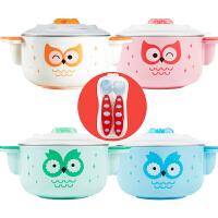 注水保温碗婴儿辅食碗宝宝吃饭吸盘碗勺儿童餐具套装