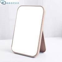 单面化妆镜台式公主镜炫彩便携式折叠镜简约塑料梳妆镜子