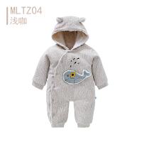 歌歌宝贝婴儿爬爬服秋冬宝宝冬季外出抱衣保暖哈衣婴儿加绒连体衣