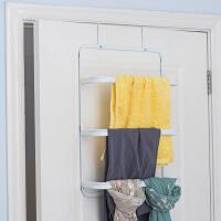 【满减】ORZ 进阶厚制扁管门后毛巾挂架 浴室免安装无痕毛巾架浴室置物架