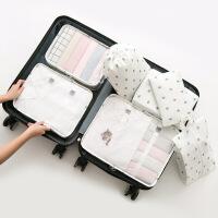 纳彩旅行收纳袋套装行李箱衣服收纳整理袋旅游鞋子衣物内衣收纳包