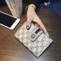 欧美新款女士钱包女短款三折叠简约时尚皮夹零钱夹多功能