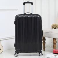 PC镜面拉杆箱韩国旅行皮箱女2024寸男登机箱子学生行李箱万向轮 典雅黑色 高配镜面