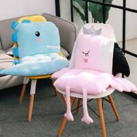 办公室椅子坐垫靠垫一体学生椅垫ins餐椅板凳子加厚女屁股垫子冬