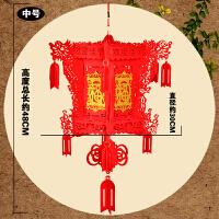 新年装饰灯笼元旦大红宫灯春节挂件无纺布喜福字布置结婚节日用品