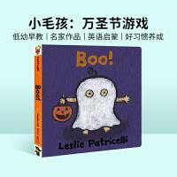 进口原版 Boo! 培养宝宝行为习惯系列纸板书:万圣节游戏 纸板【2~5岁】
