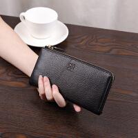 新款日韩简约真皮女士钱包长款拉链女手包大容量钱夹手机包潮
