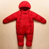 儿童羽绒服套装男童女童宝宝婴儿幼儿连体衣睡袋爬服