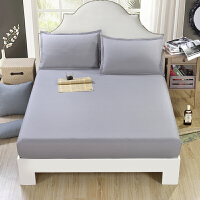 ???席梦思保护套 床罩 防尘罩 床垫套纯色床笠1.5/1.8m床单件 加2枕套
