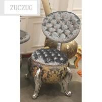 ZUCZUG欧式坐凳 古典布艺沙发软凳 客厅矮凳 卧室梳妆化妆凳 凳子