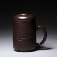 紫砂杯带盖全手工内胆过滤茶杯纯深色办公杯喝茶茶具水杯宜兴盖杯