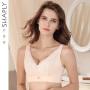 莎莲妮超薄无钢圈文胸大胸显小薄款性感聚拢调整型胸罩内衣17118