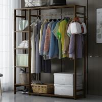 衣柜实木简易组装经济型家用加粗简约收纳小户型卧室挂衣柜现代