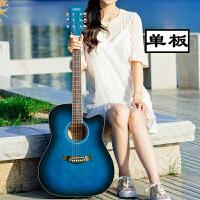 单板41寸40寸初学者民谣木吉他青少年学生男女新手入门乐器a176 【单板】