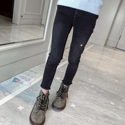 大女童加绒裤子秋冬洋气休闲裤长裤外穿加厚保暖打底裤儿童牛仔裤 发货周期:一般在付款后2-90天左右发货,具体发货时间请以与客服协商的时间为准