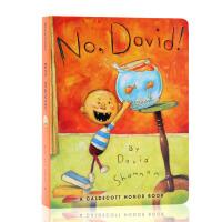 大卫不可以 No David 英文原版绘本 纸板书 大卫香农 获奖名家绘本 David Shannon 亲子阅读好习惯