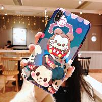 卡通苹果x手机壳xsmax米奇xr情侣iPhone7plus支架8p可爱6s女款6潮 xs max(6.5寸)米奇娃娃
