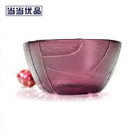 当当优品 创意玻璃碗套装四枚四色装 彩波纹