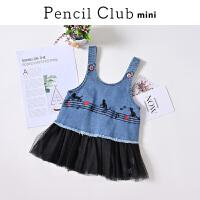 【3件价:42.9元】铅笔俱乐部童装2020春装新款女童连衣裙女小童洋气裙子儿童吊带裙