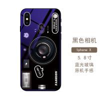 苹果x手机壳iphone xs max蓝光玻璃6splus男女款7p气囊相机8plusiphon
