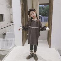 女童卫衣秋冬装2018新款韩版儿童装中长款洋气潮大童加厚加绒上衣